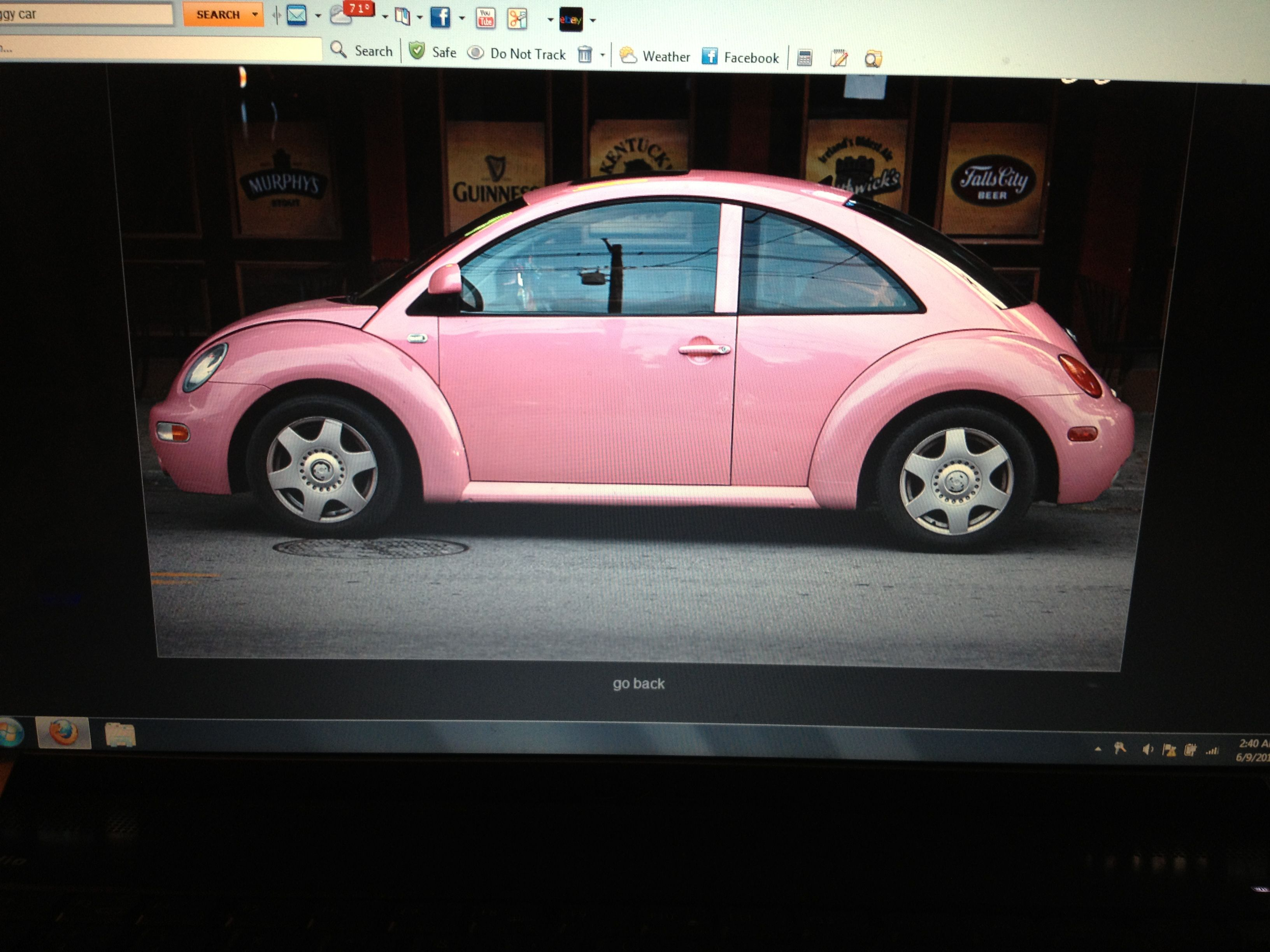 Punch buggy pink Motorcycle Cars boats ⛵ Pinterest