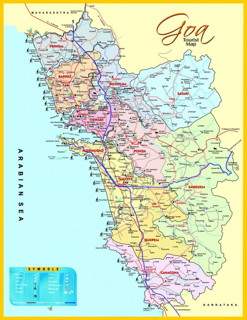 Map of goa tiny little state in india look at that long coastline map of goa tiny little state in india look at that long coastline gumiabroncs Images