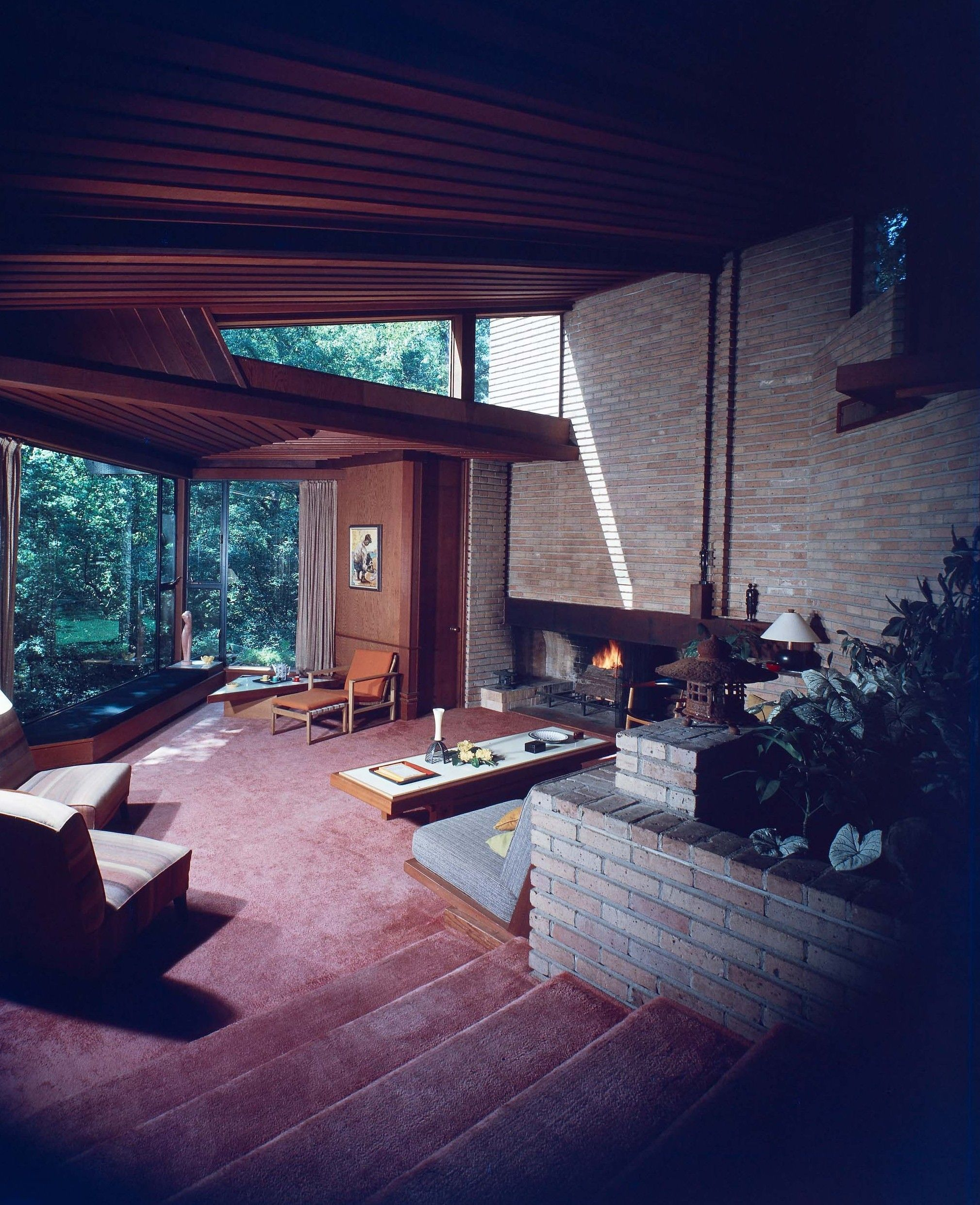 mid century modern showing clerestory windows 1964 barry