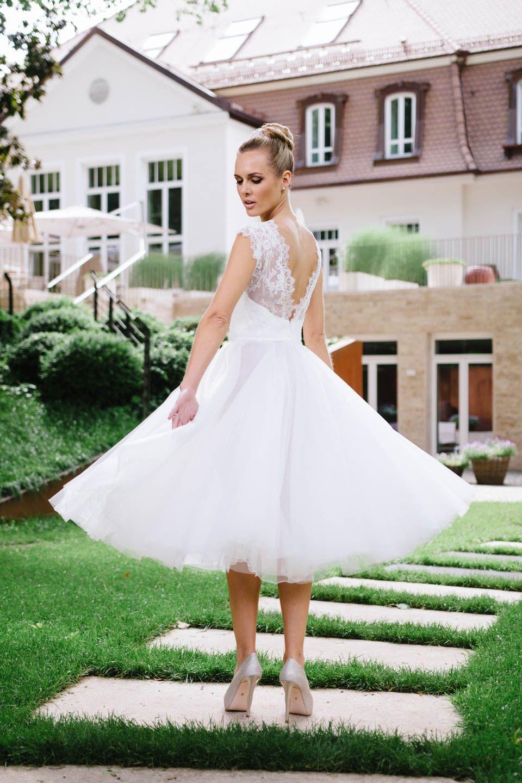 Sexy Brautkleid mit 3/4 Tüllrock – unserer Zoe! Mit dem Rock lässt ...