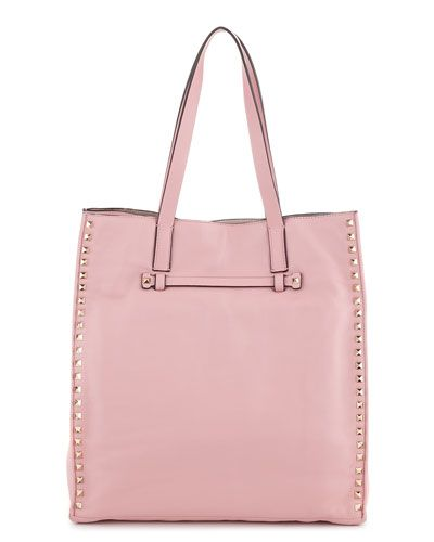 Valentino 'Rockstud' Leather Shopping Tote