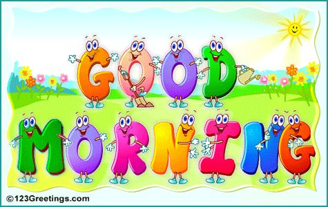 Good Morning Character Letters  Good Morning