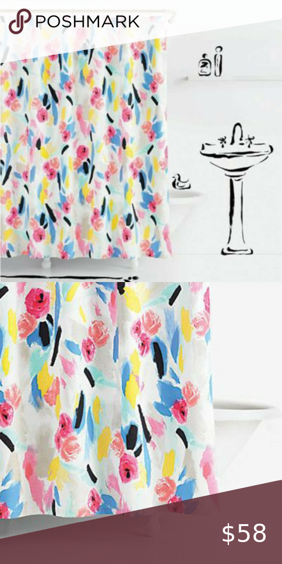 Kate Spade Paintball Shower Curtain Nwt In 2020 Kate Spade Kate