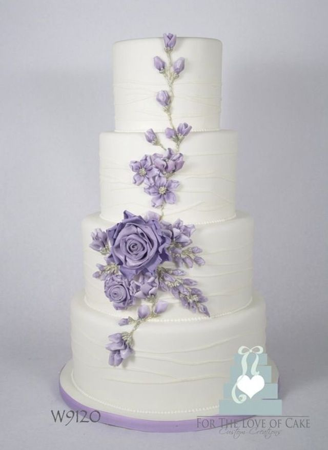 Simple But Stunning Wedding Cake Beautiful Cake Pictures Purple
