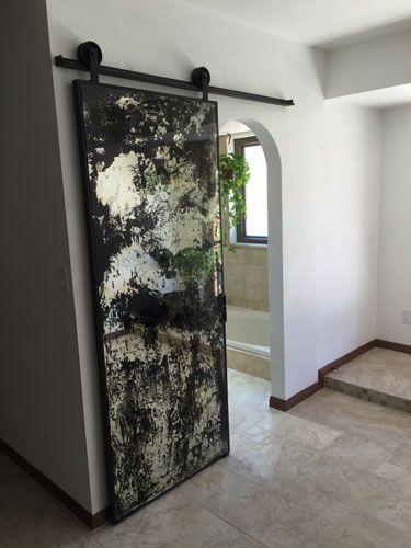 Industrial Metal And Wood Furniture Mirror Barn Door Modern Sliding Barn Door Barn Doors Sliding