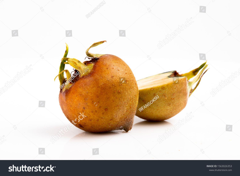 common medlar (Mespilus germanica), healthy organic food from nature, medlar. fresh organic medlars background texture. fruit. #Ad , #AD, #germanica#healthy#organic#common