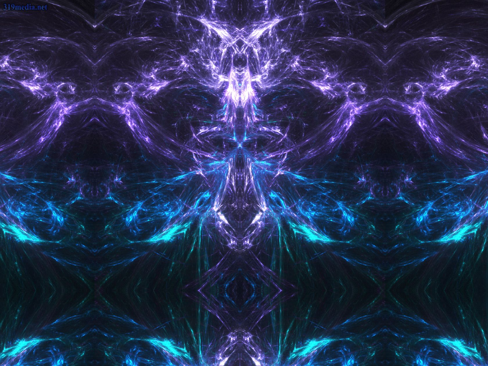 Abstract Fractal Skull Monster Trippy Wallpaper
