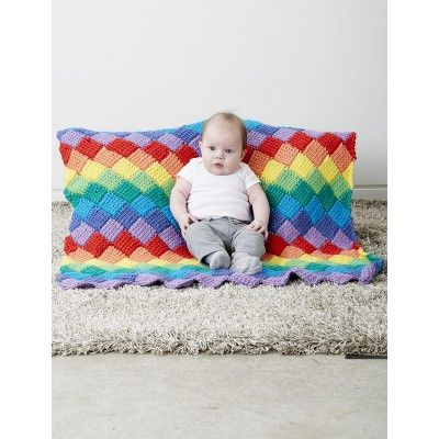 Tunisian Entrelac Baby Blanket - Free Crochet Pattern (PDF Download ...