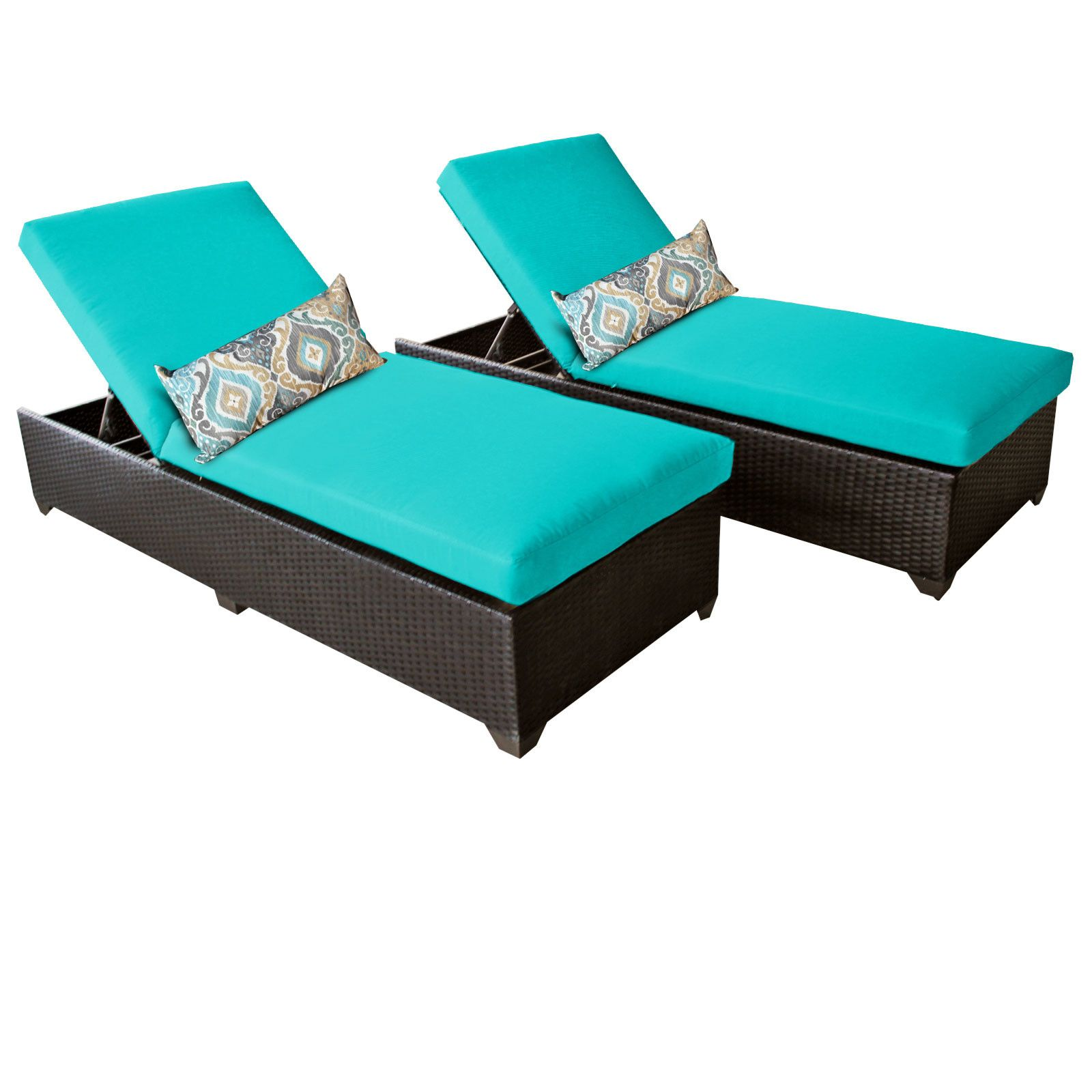 Classic 2 Piece Chaise Lounge Set with Cushion