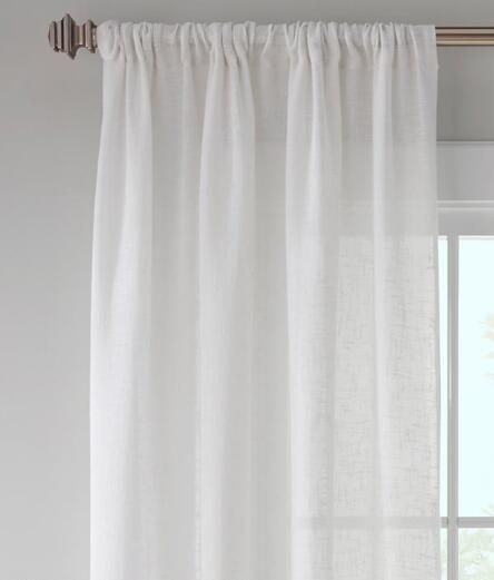 Sheer Linen Rod Pocket Curtains Country Curtains Rod Pocket