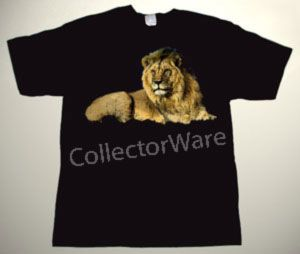 Lion drawing CUSTOM ART UNIQUE T-SHIRT   Each T-shirt is individually hand-painted, a true and unique work of art indeed!  To order this, or design your own custom T-shirt, please contact us at info@collectorware.com, or visit http://www.collectorware.com/tees-1animals.htm