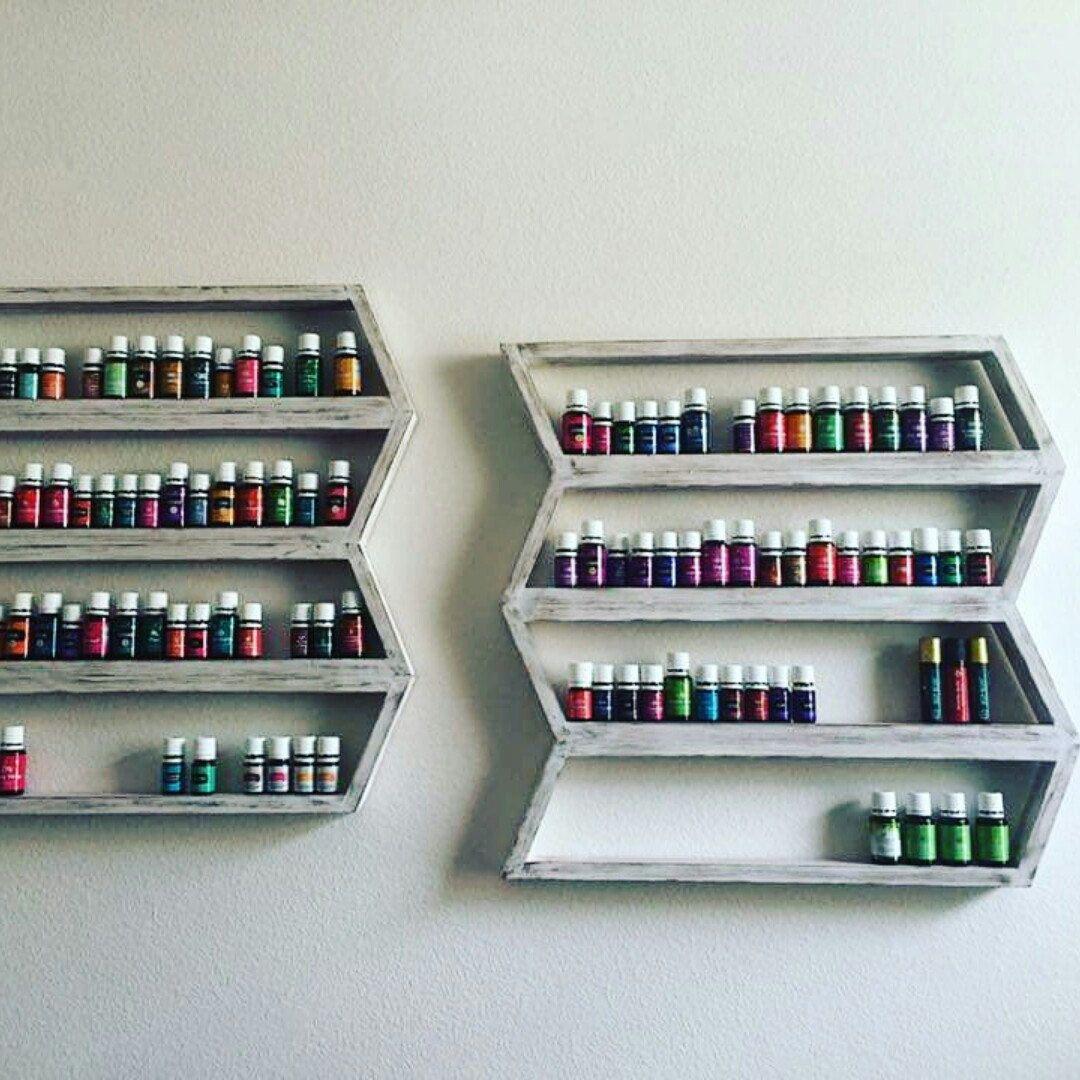 essential oil shelf nail polish rack wood arrow decor. Black Bedroom Furniture Sets. Home Design Ideas