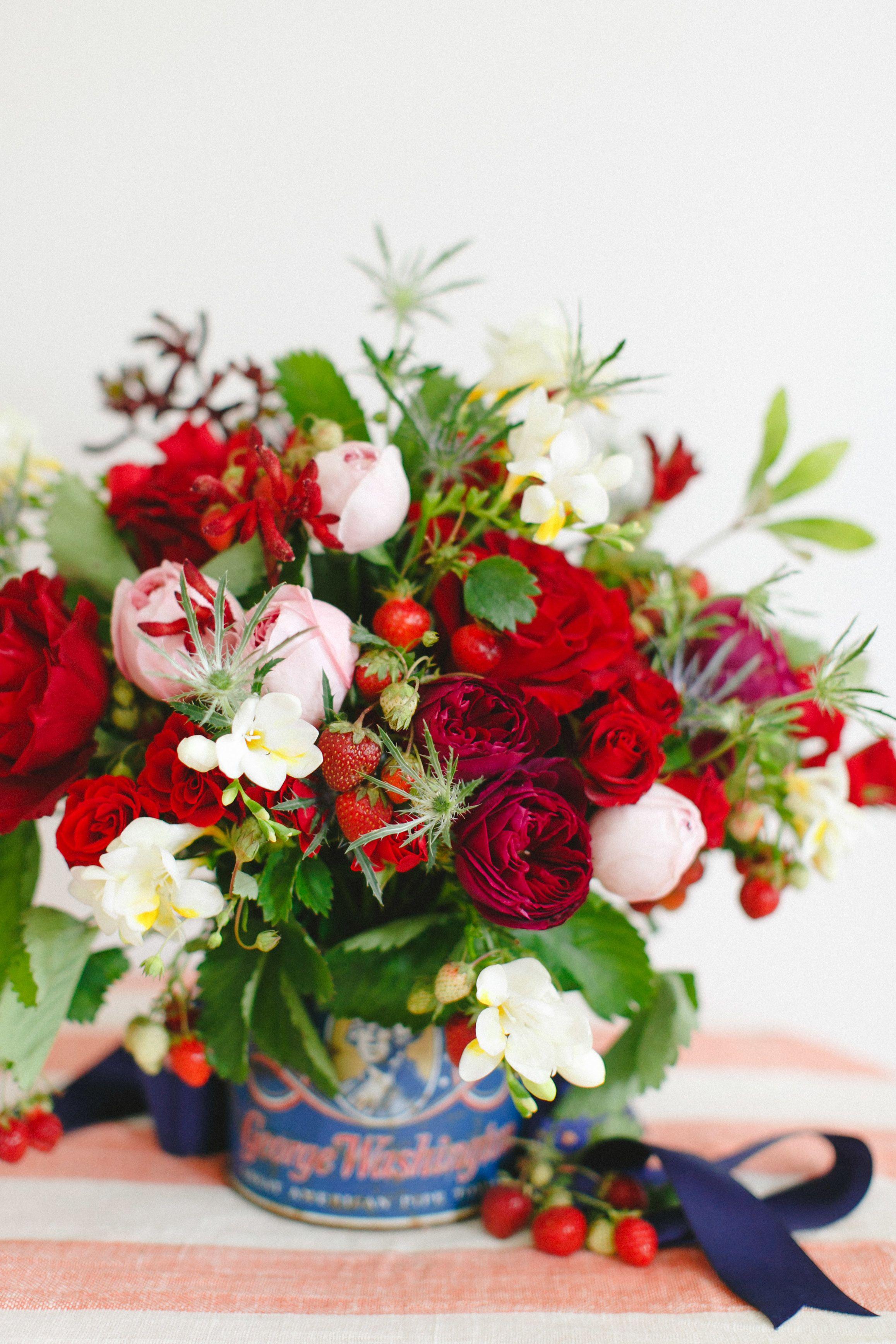 DIY Fourth of July Flower Arrangement | Flower arrangements ...