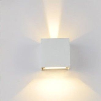 Wall Lamps 6w Led Outdoor Sconce Waterproof Modern Light Warm White 2pcs Cob