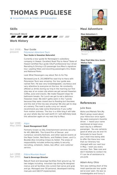 tour guides resume sample http www resumecareer info tour