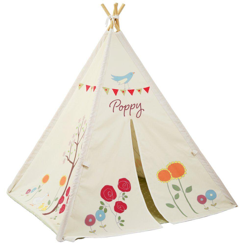 Personalised Gracieu0027s Garden Indoor Outdoor Designer Teepee Wigwan Play Tent Made in the UK  sc 1 st  Pinterest & Personalised Gracieu0027s Garden Indoor Outdoor Designer Teepee Wigwan ...