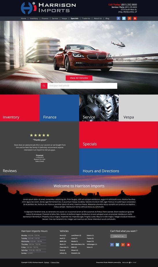 Responsive Website Harrison Imports Fun Website Design