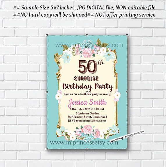 Shabby chic birthday invitation for any age 16th 18th 20th shabby chic birthday invitation for any age 16th 18th 20th filmwisefo