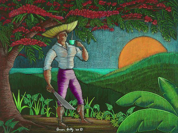 Amanecer En Borinquen By Oscar Ortiz Puerto Rico Art Art Wall Art Prints