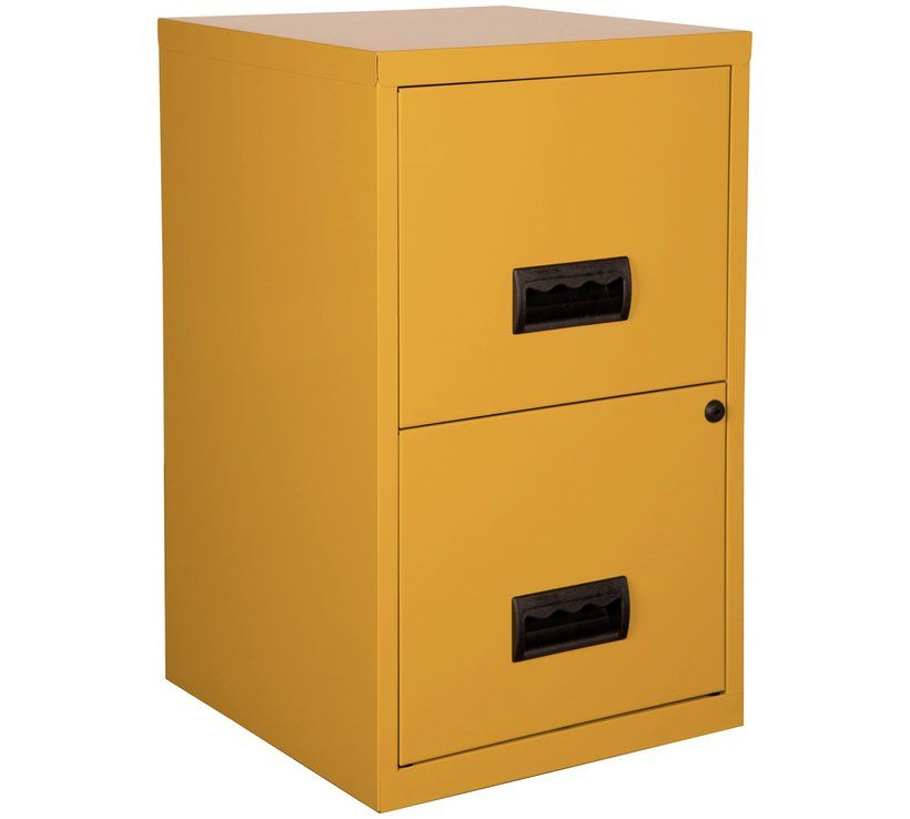 Buy Pierre Henry 2 Drawer Metal Filing Cabinet Mustard Yellow Filing Cabinets And Office Storage Argos Filing Cabinet Metal Filing Cabinet Colorful Storage