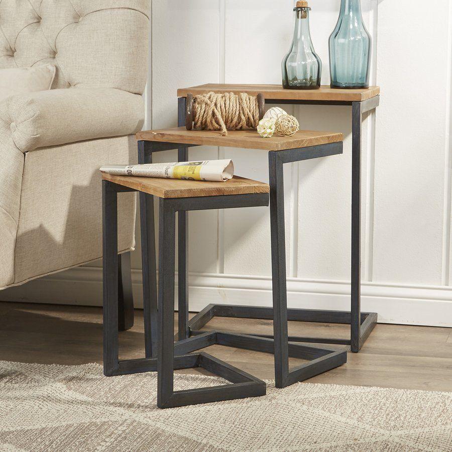 Cetus 3 Piece Nesting Tables Muebles De Diseno Industrial Muebles De Metal Muebles Hierro Y Madera