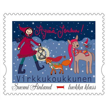 Hyvää Joulua postimerkki <3