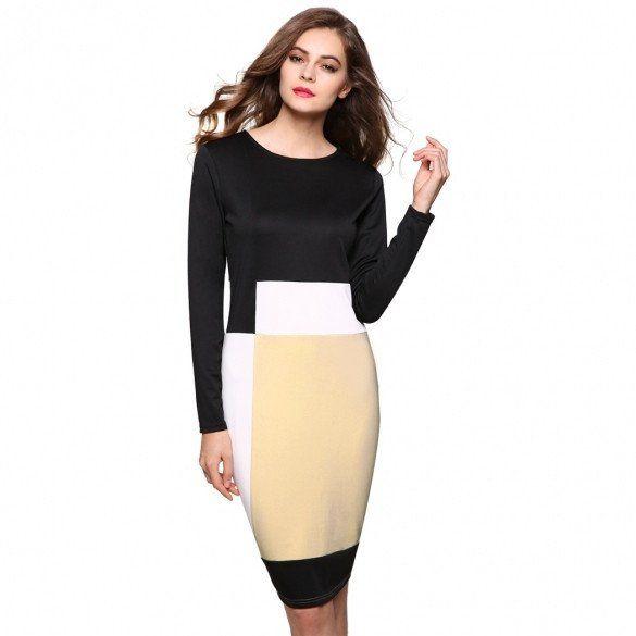 Geometric Pattern Stretch Party Pencil Dress