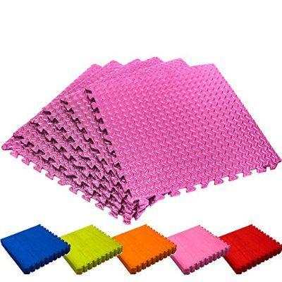 Schutzmatten Set von #DoYourFitness - 6x Puzzle Unterlegmatten für sicheren Bodenschutz für Sportgeräte, Gymnastikräume, Keller - Matten Schutz vor Kratzern, Stößen, Dellen, Kälte, Lärm, Flüssigkeit ! 6 Steckelementen á 60 x 60 x 1,2 cm (ca. 2,2m²) / In verschiedenen Farben erhältlich / Rosa