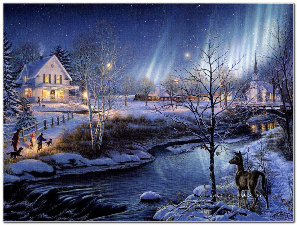 Beautiful Christmas Wallpaper Scenes Beautiful Christmas Scenes Christmas Scenery Winter Wallpaper