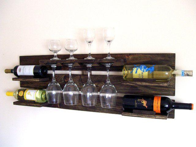 DIY Pallet Wood Wine Rack | Rustic wine racks, Reclaimed ...