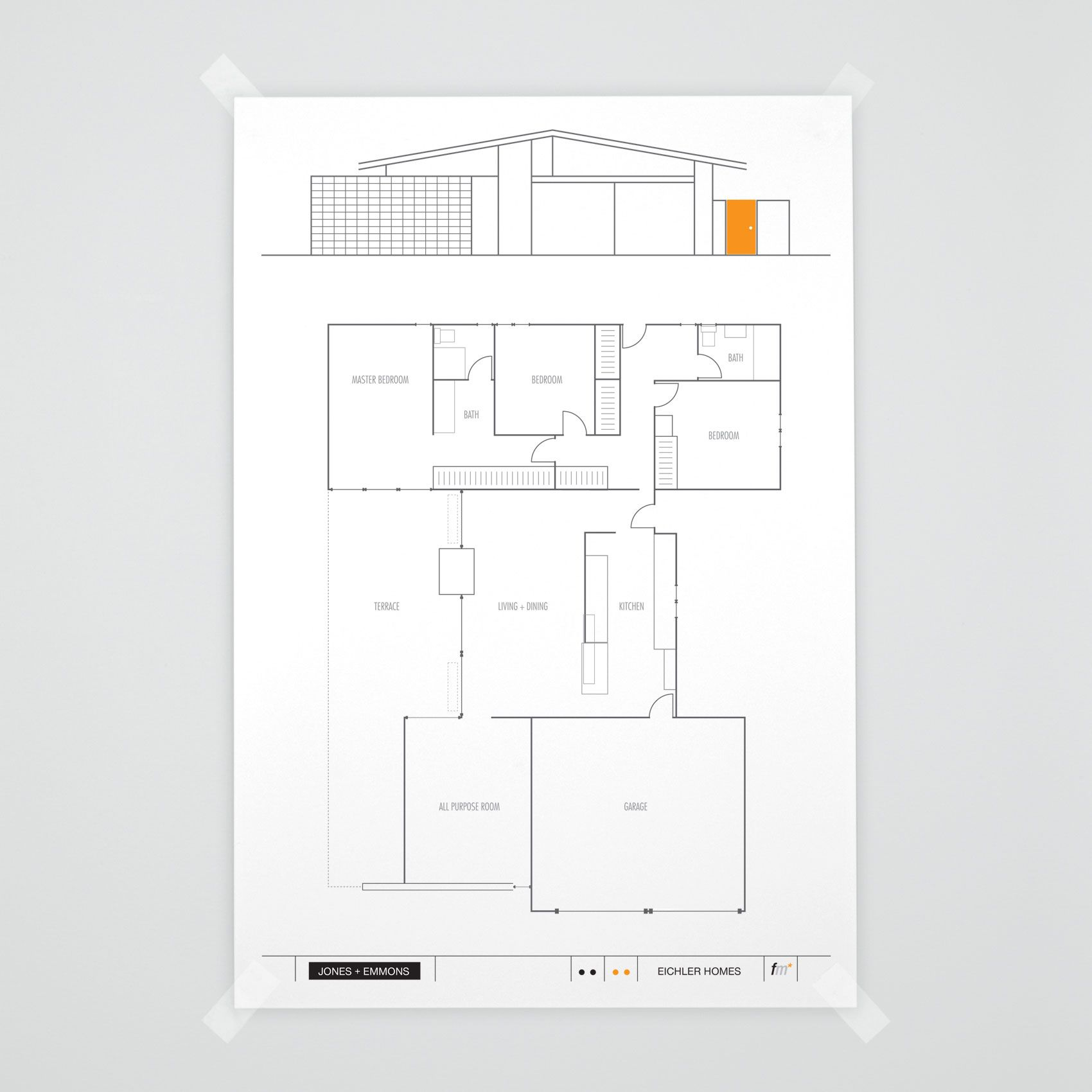 Independent And Simplified Life With Garage Plans With: JE-85 MODEL// EICHLER FLOORPLAN//JONES + EMMONS