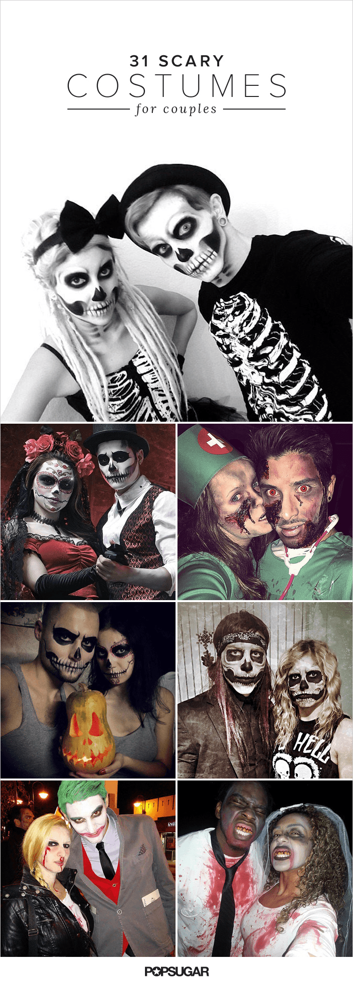 31 scary halloween costumes for couples halloween - Maquillage halloween couple ...