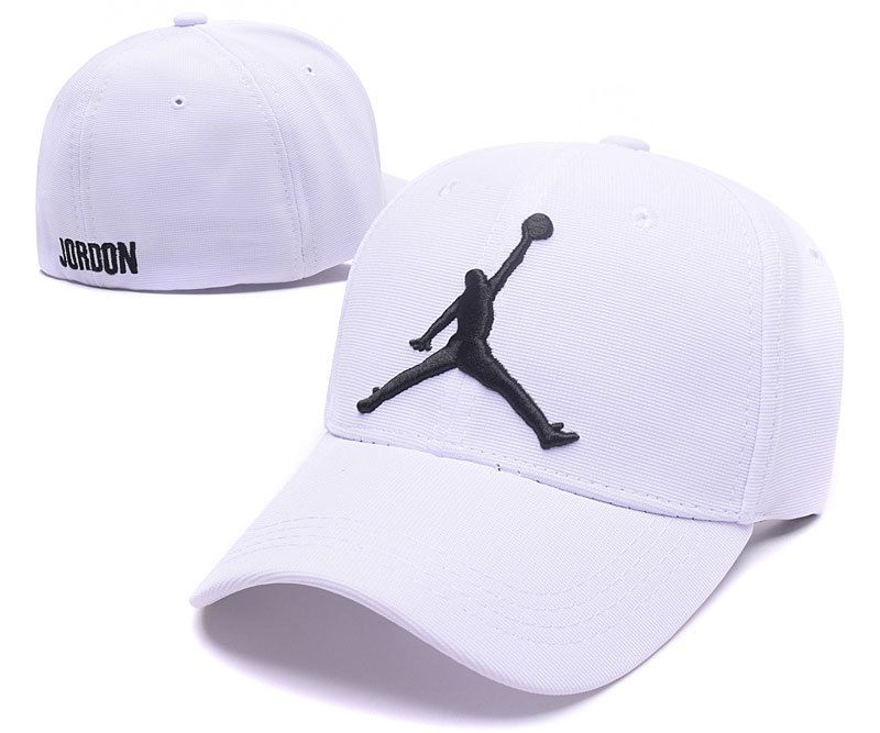 3d603dba Mens / Womens Nike Air Jordan The Jumpman Embroidery Logo Flexfit Hat -  White / Black