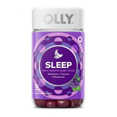 Olly Sleep Gummies Blackberry Zen 70ct Melatonin Gummies