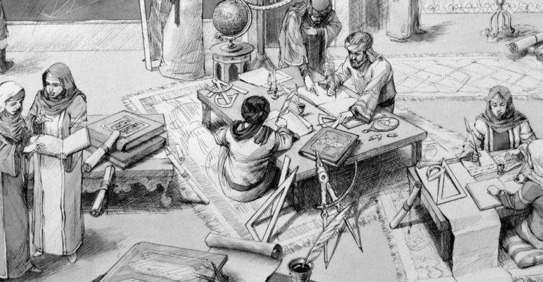 بحث عن اشهر علماء الرياضيات في الحضارة الإسلامية والعالم الاوروبي أبحاث نت Male Sketch Painting Male
