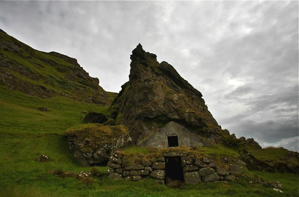 Rutshellir, house of the elves, trolls, huldufolk or just sheep. Not sure about the original inhabitants. Iceland in July 2012. © Miikka Järvinen