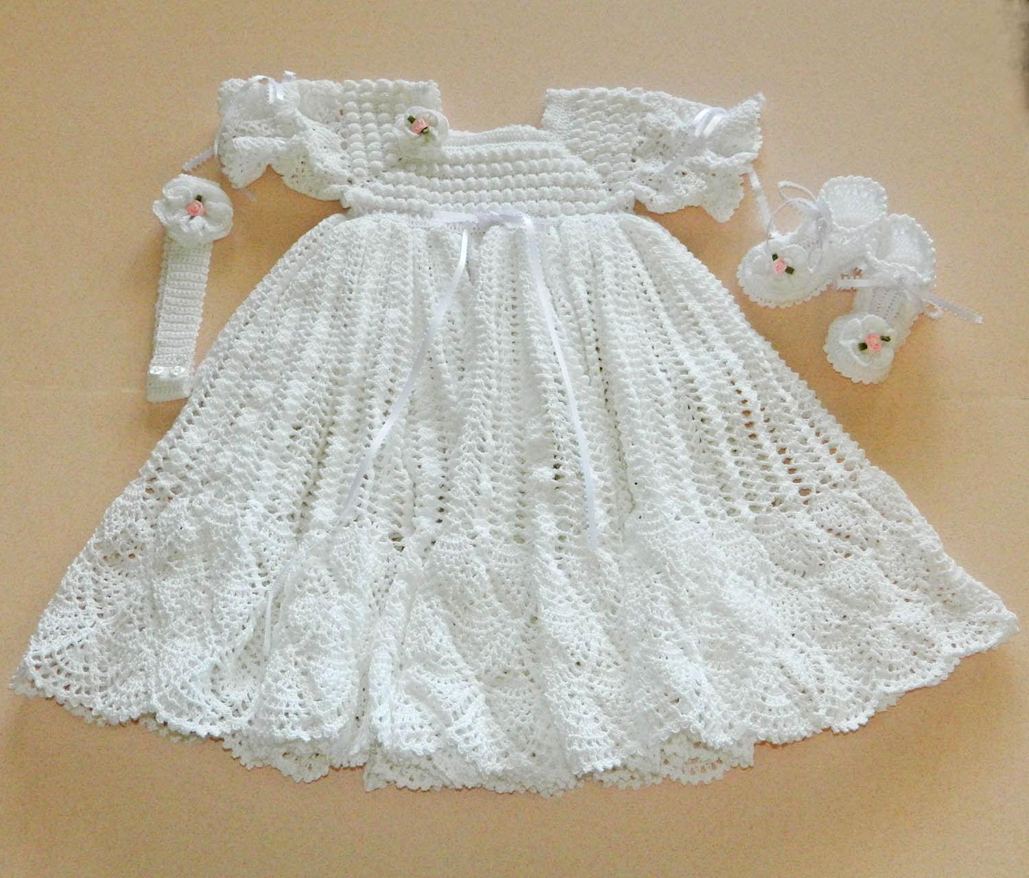 crochet patterns baptism gown for girls