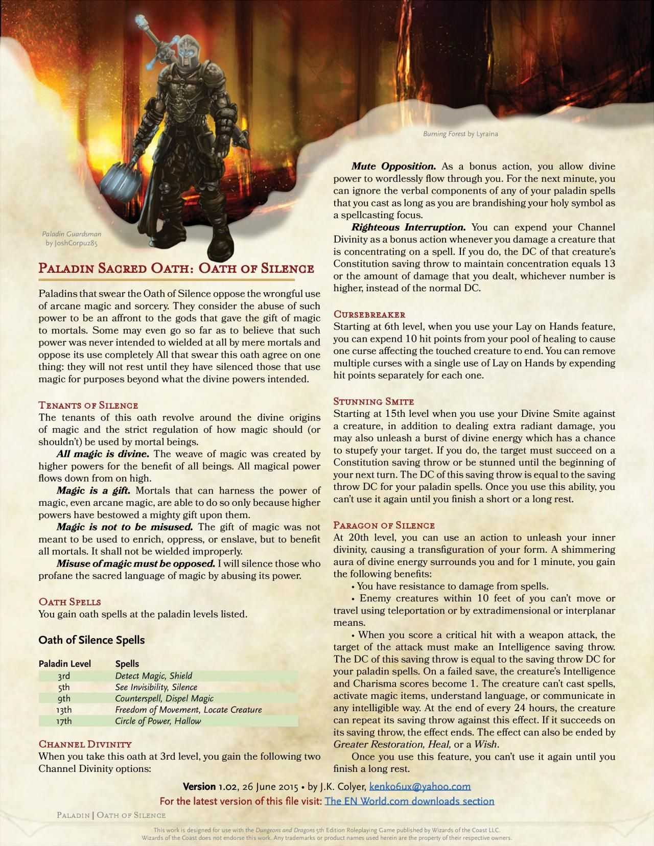 Pin by Kevin on D&D 5e Homebrew Class Archetypes in 2019 | Dnd 5e
