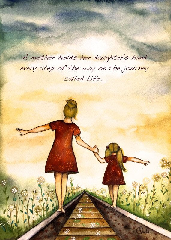 Blonde Mother And Daughter Our Path Art Print With Quote Cuadros