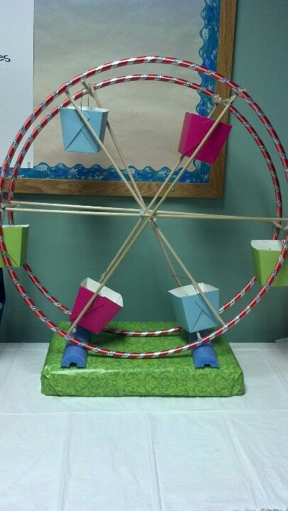 Carousel Made Of Hula Hoops Dowel Rods And Chinese Take
