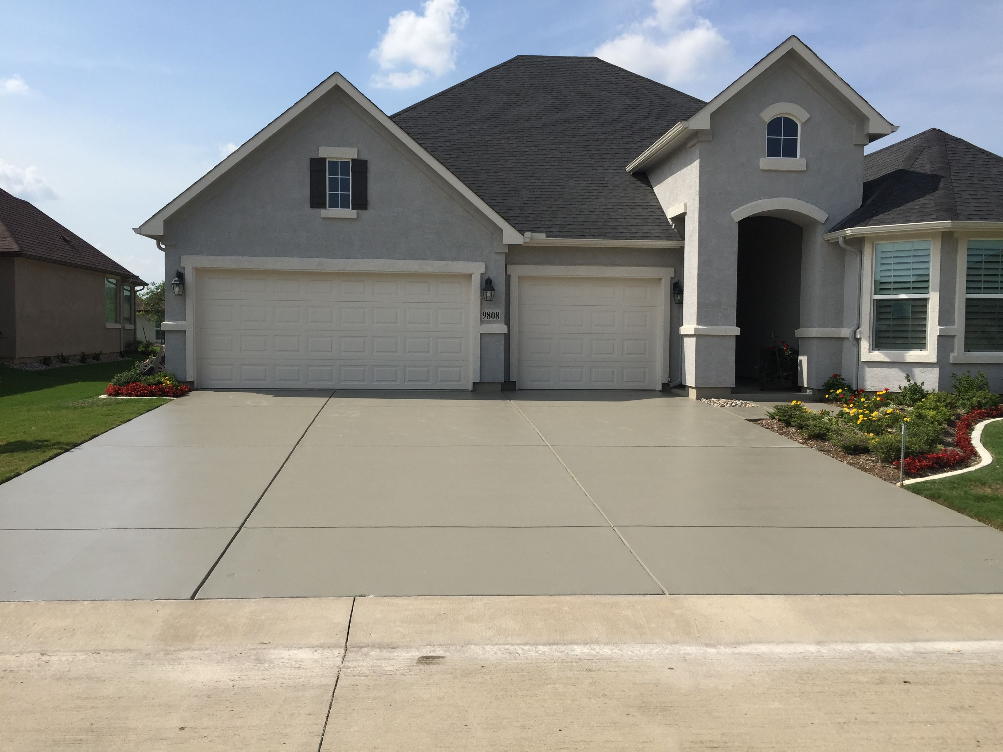 Solid Color Concrete Staining Sealing This Is A Tinted 30