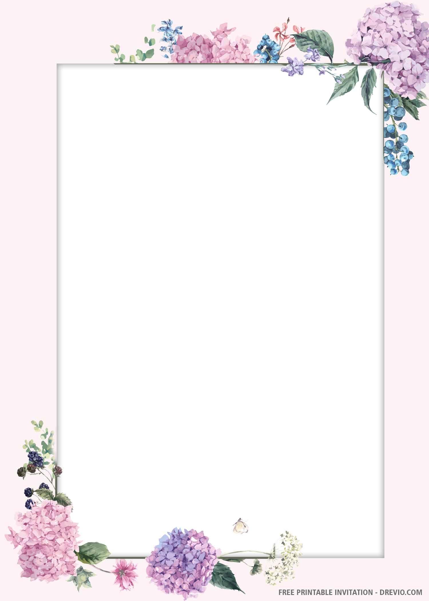 Blank Wedding Invitations Templates Purple