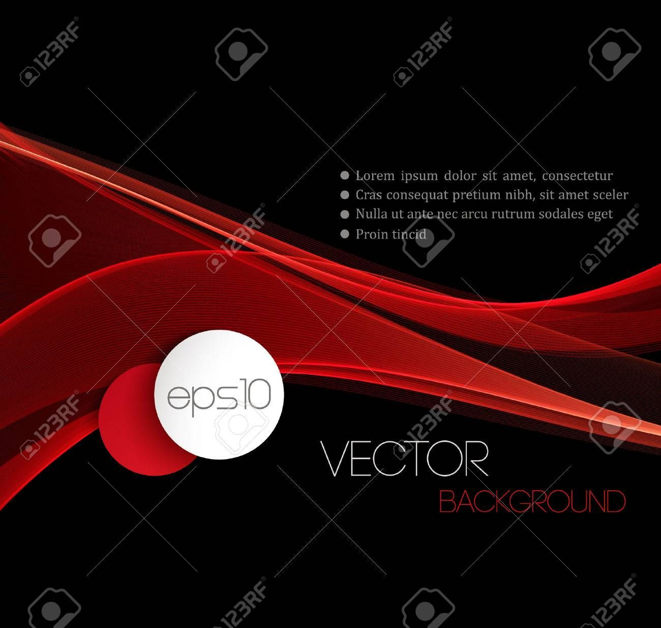 Red Smooth wave stream line abstract header layout. Vector illustration ,