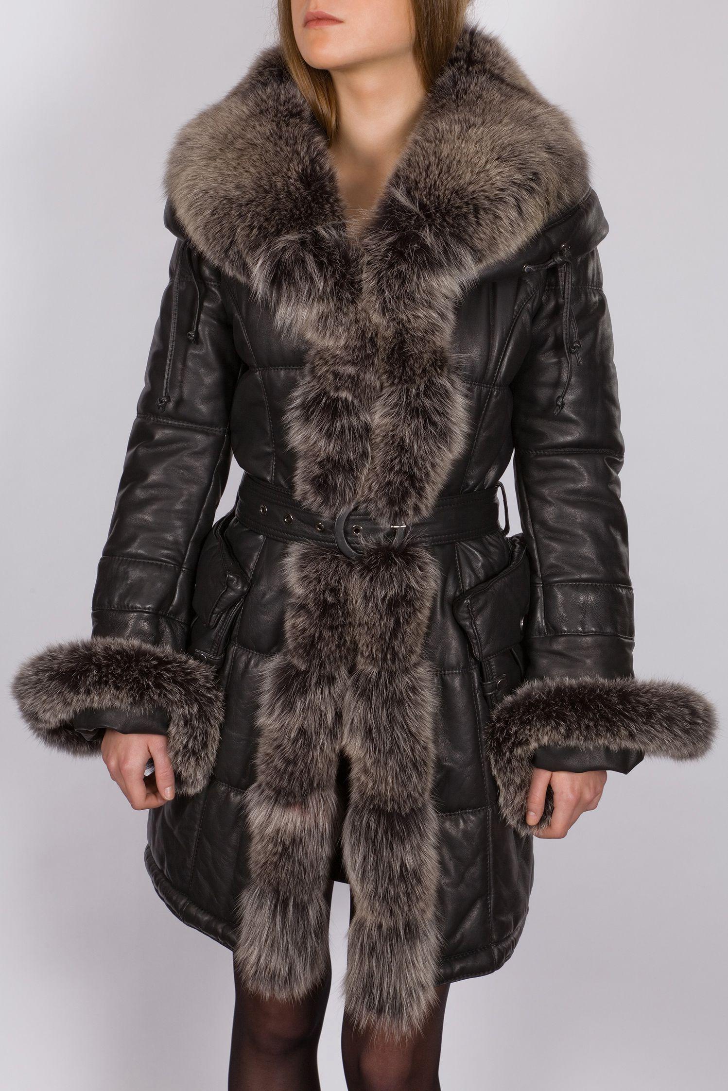 Fourrure Manteau manteau Femme U0027hiver D Fourrure Cuir Avec kXiTPZuO