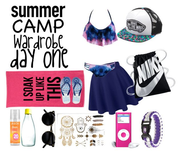 """Summer Camp Wardrobe Day One"" by ashlyn91 on Polyvore featuring Jason, Retap, Vans, Gandys and NIKE"
