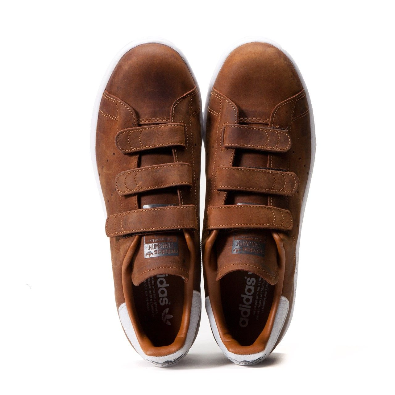 adidas brown stan smith velcro trainers