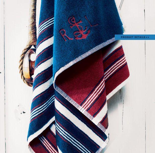 Ralph Lauren Mens Beach Towel: Ralph Lauren Home #American_Summer Collection 19