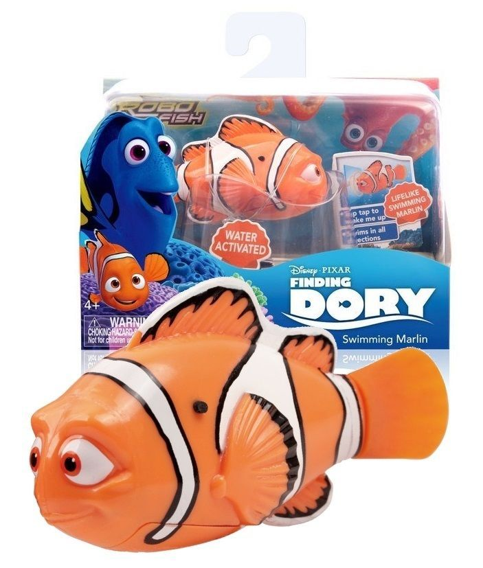 Disney finding dory robot fish water toy marlin gifts for Robot fish toy