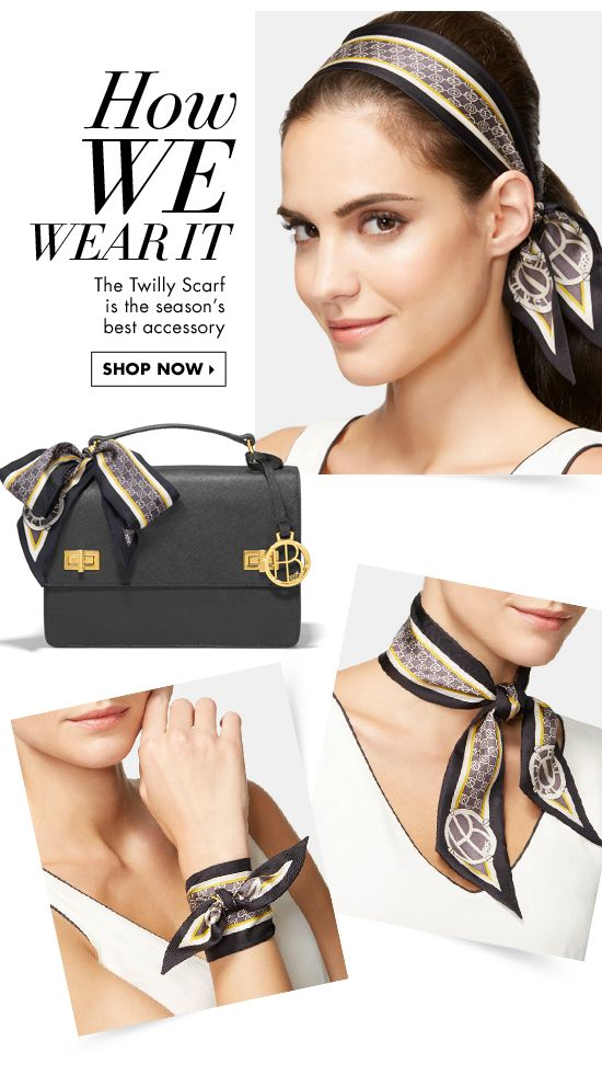 How we wear it the twilly scarf is the season 39 s best accessory shop now fashion details - Hermes tuch binden ...