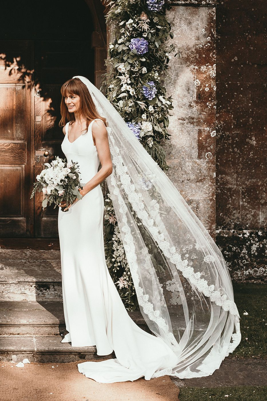 Couture Dress by Mirror Mirror London - Babington House Somerset For An Elegant Wedding With Bride In Couture Gown By Mirror Mirror London & Images by Benjamin Wheeler